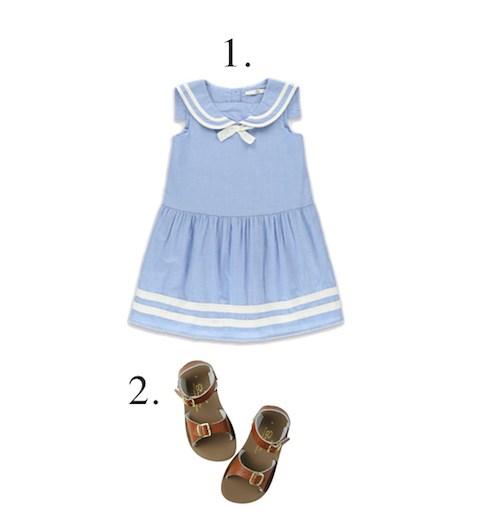 M Amp S Sailor Pure Cotton Girls Dress Little Spree
