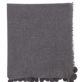 Jigsaw wool pom pom edge scarf