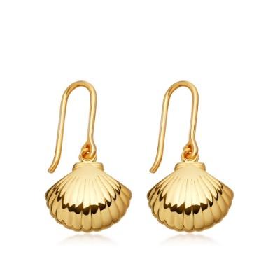 Astley Clarke Shell drop earrings