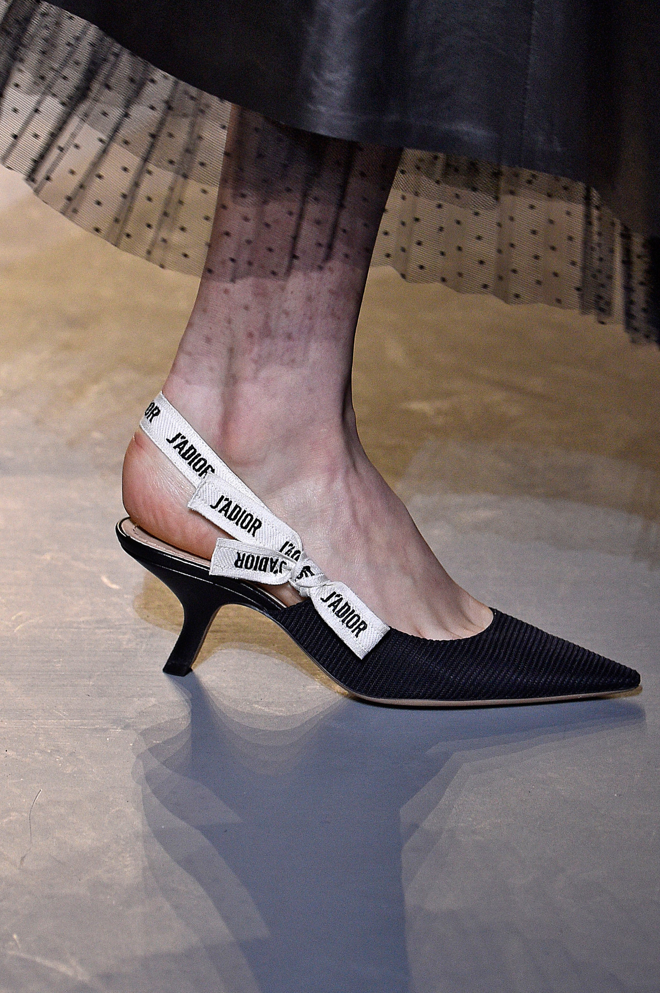 High Street Version Of The Dior Sling Back Kitten Heels