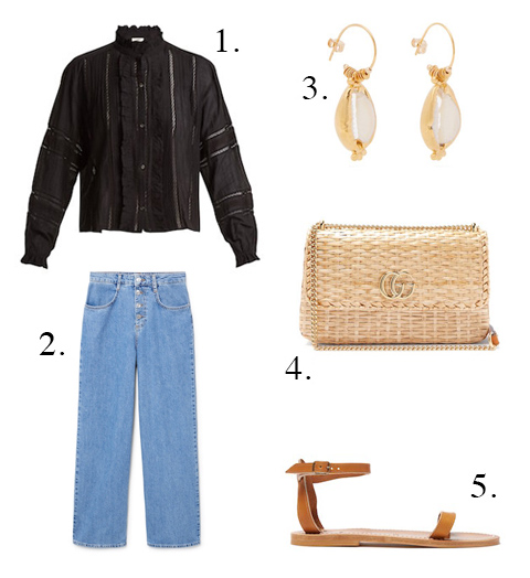 Mango Jeans & Gucci Bags