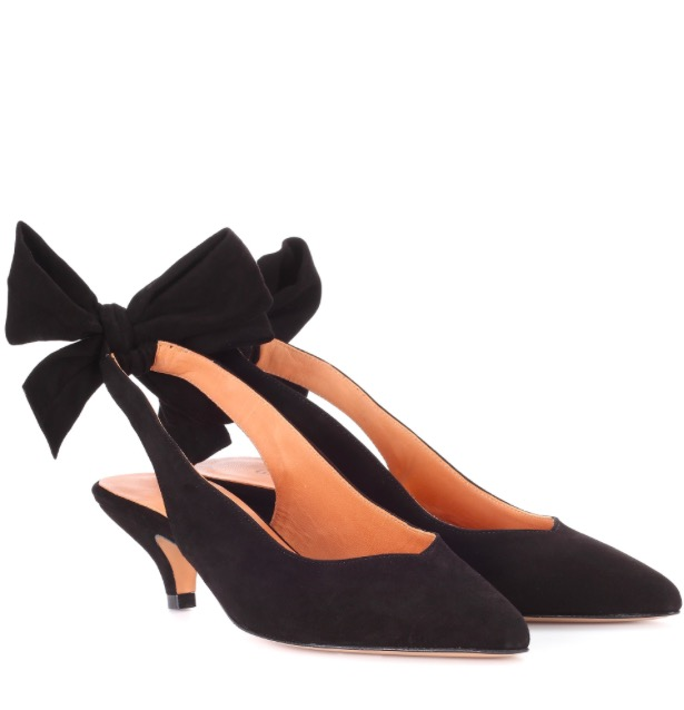 Ganni bow sling-backs