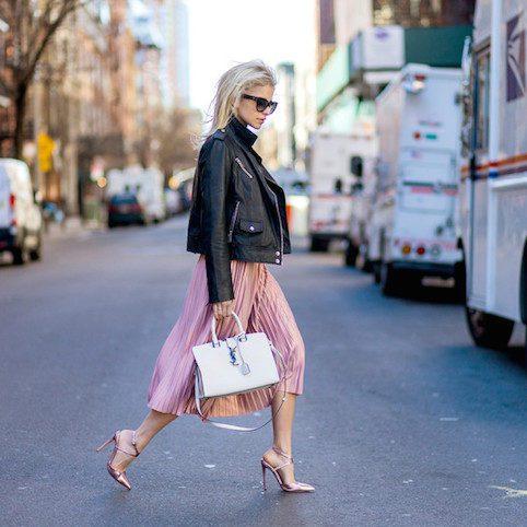 59bbdabec Topshop pink velvet pleated midi skirt - Little Spree