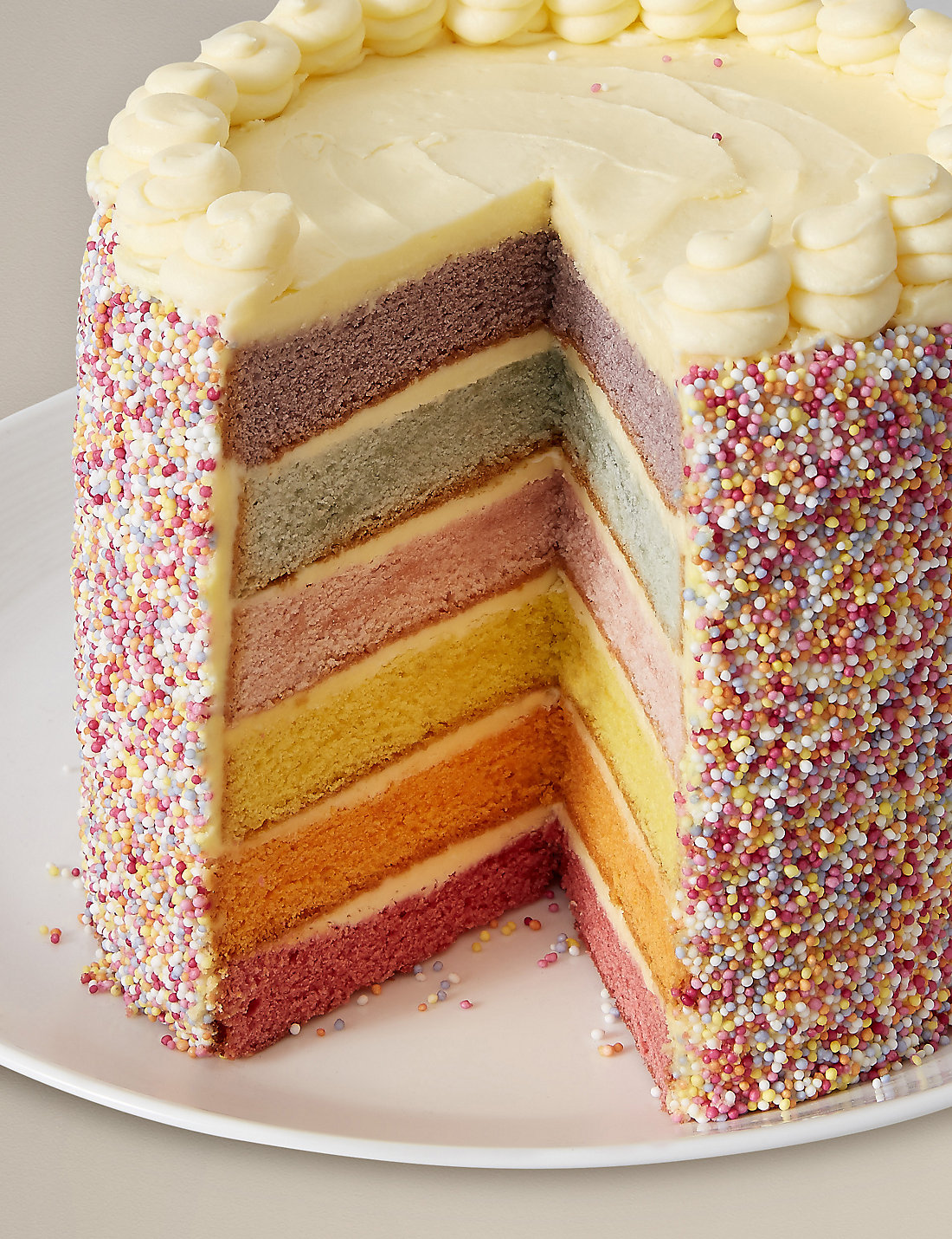 M Amp S Rainbow Layers Cake Little Spree Style Inspiration
