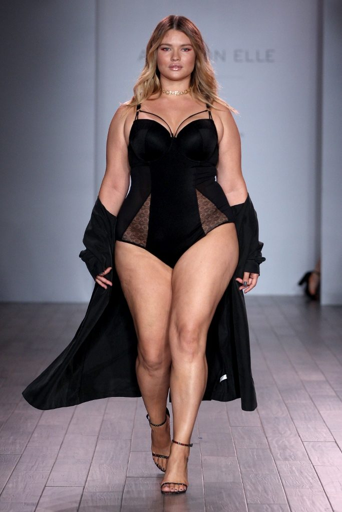 4fab746906e6c NEW YORK, NY – SEPTEMBER 14: A model walks the runway at Addition Elle  Presents Holiday 2016 RTW + Ashley Graham Lingerie Collection at Kia  STYLE360 NYFW on ...