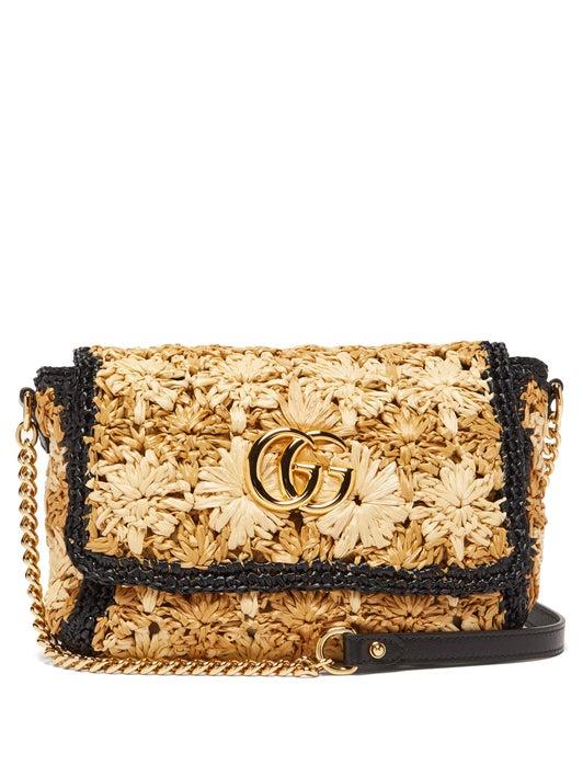 Gucci Marmont woven shoulder bag